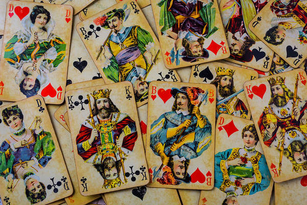 Wall Art - Photograph - Very Old Playing Cards by Garry Gay