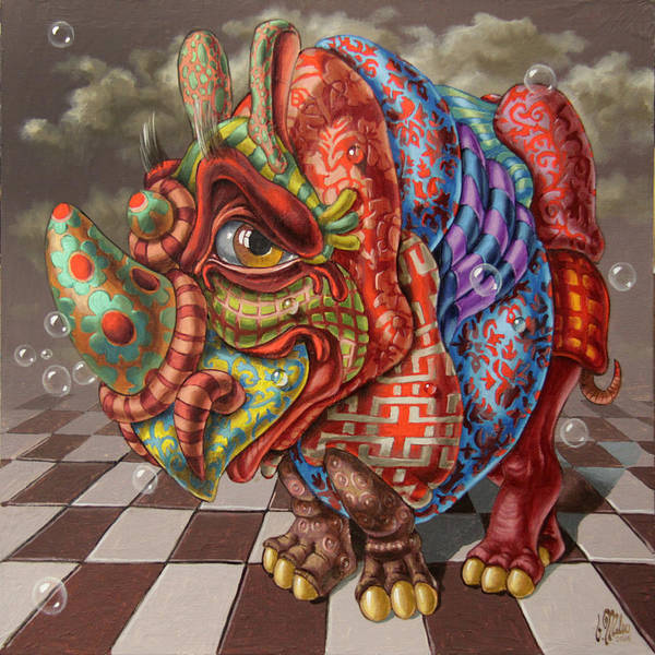 Painting - Very Strange Rhino by Victor Molev