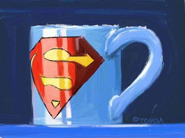 Super Cup Wall Art - Digital Art - Very Strong Coffee - Art By Bill Tomsa by Bill Tomsa