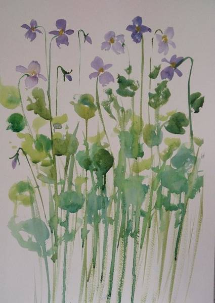 Painting - Very Violet by Kathy  Karas