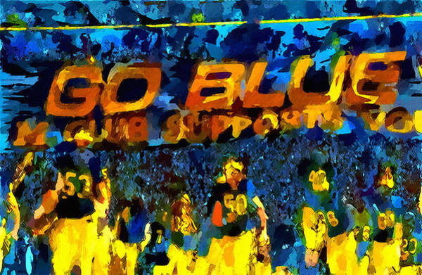 Wall Art - Painting - Very Wild Go Blue by John Farr
