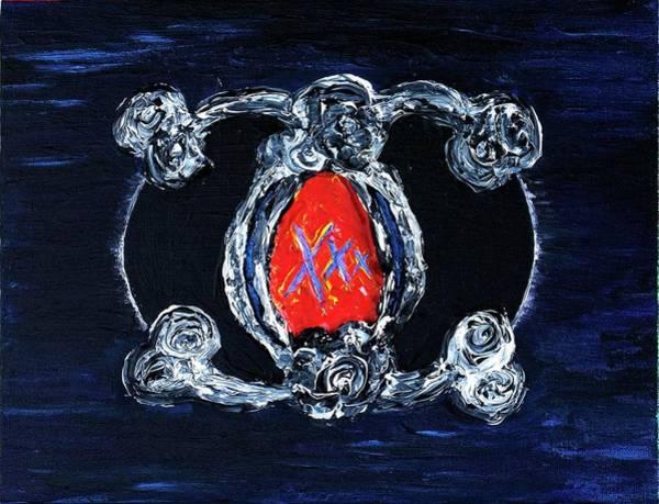 Painting - Vesica Black Suns by Rufus J Jhonson
