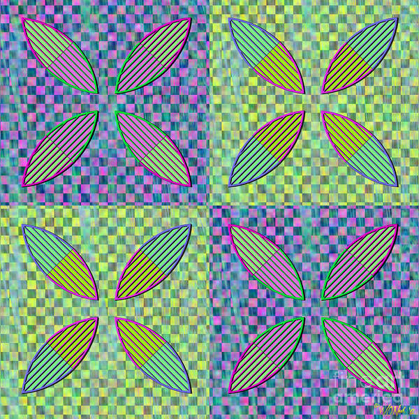 Digital Art - Vesica Piscis And Checkers No. 5 by Walter Neal