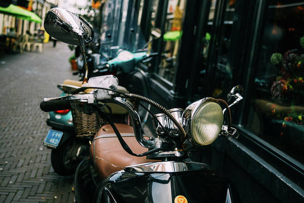 Wall Art - Photograph - Vespa In The Street by Pati Photography