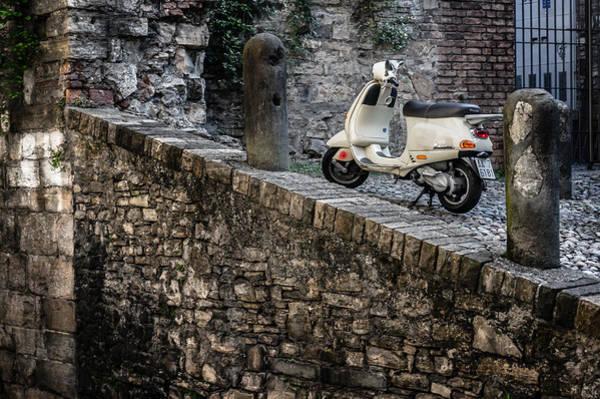 Photograph - Vespa On The Bergamo Street by Dmytro Korol