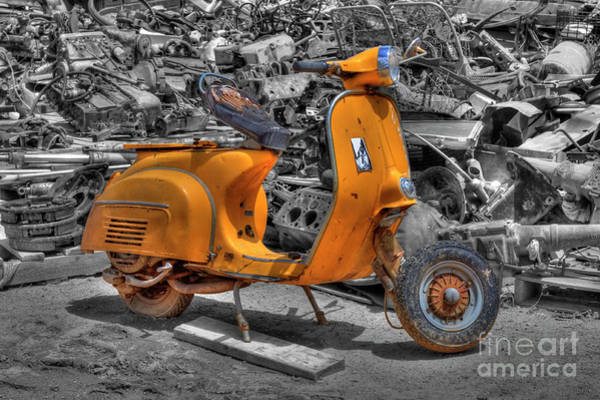 Photograph - Vespa Super by Tony Baca