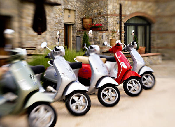 Photograph - Vespas In Line by Marilyn Hunt