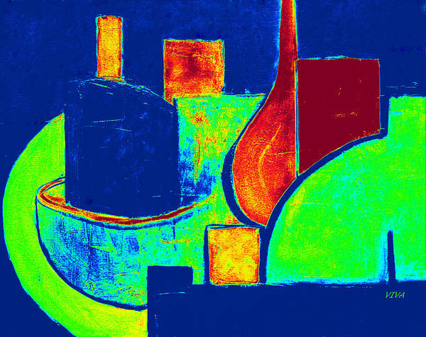 Painting - Vessels Colourful by VIVA Anderson