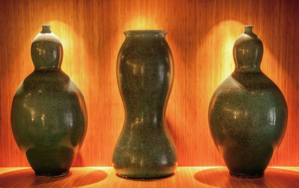 Photograph - Vessels Aglow by Karen Wiles