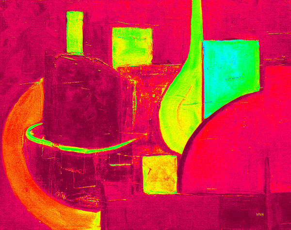 Painting - Vessels Very Colorful by VIVA Anderson
