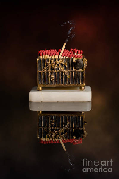 Light Box Photograph - Vesta Case Full Of Matches by Amanda Elwell