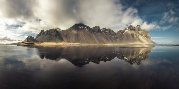 April Wall Art - Photograph - Vestrahorn Panorama by Tor-Ivar Naess