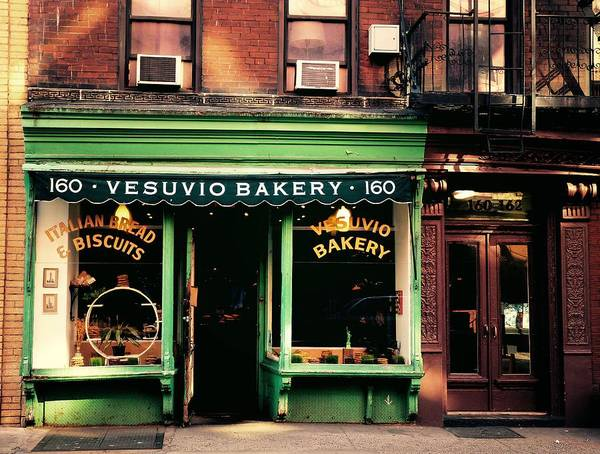 Storefront Photograph - Vesuvio Bakery - Soho - New York City by Vivienne Gucwa