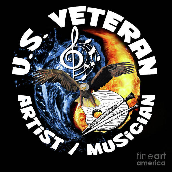 Digital Art - Veteran Artist/musician by Bill Richards