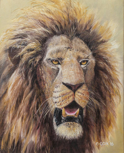 Painting - Veteran - Lion by Christopher Cox