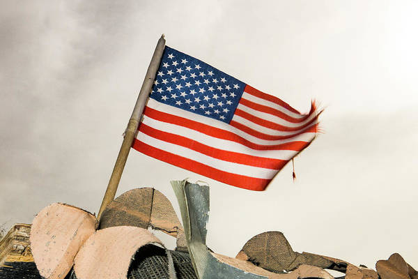 Photograph - Veterans Day Flag by SR Green