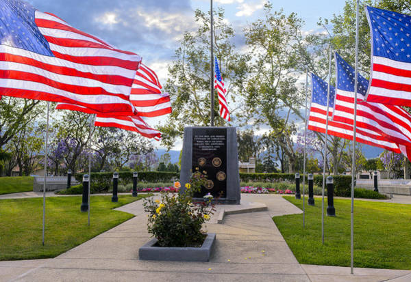 Virtue Photograph - Veterans Monument Camarillo California Usa by Brian Tada
