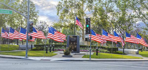 Photograph - Veterans Monument Full Display At Camarillo Ca Usa by Brian Tada