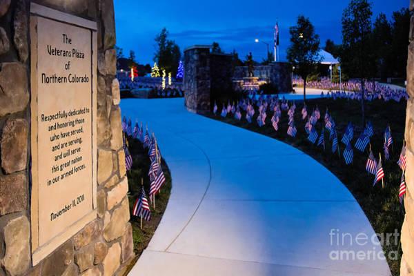 Photograph - Veterns Plaza by Jon Burch Photography