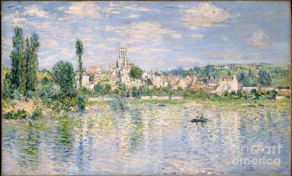 Vetheuil Wall Art - Painting - Vetheuil In Summer by Camille Monet