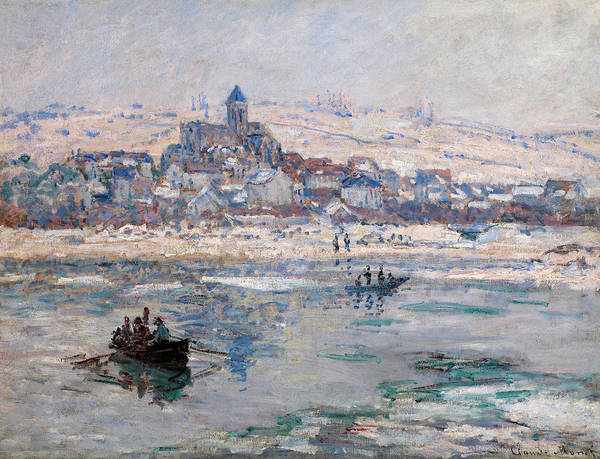 Vetheuil Wall Art - Painting - Vetheuil In Winter by Claude Monet