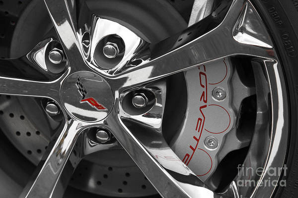 Mag Wheels Wall Art - Photograph - Vette Wheel by Dennis Hedberg