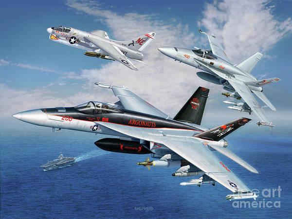 A-18 Hornet Wall Art - Digital Art - Vfa-147 Argonauts Legacy by Stu Shepherd