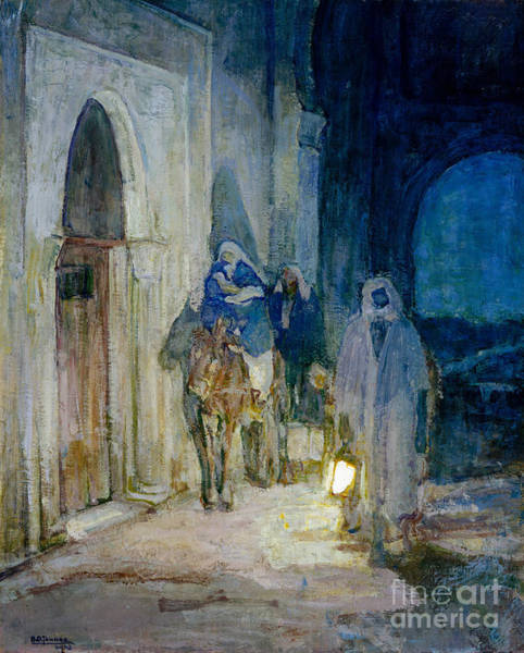 Wall Art - Painting - Vflight Into Egypt by Henry Ossawa Tanner