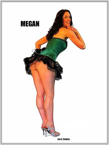Painting - Vgirl Megan by Jon Volden
