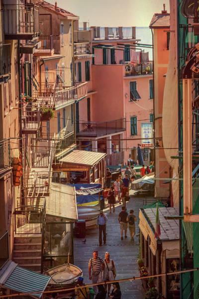 Photograph - Via Discovolo Manarola Cinque Terre Italy by Joan Carroll