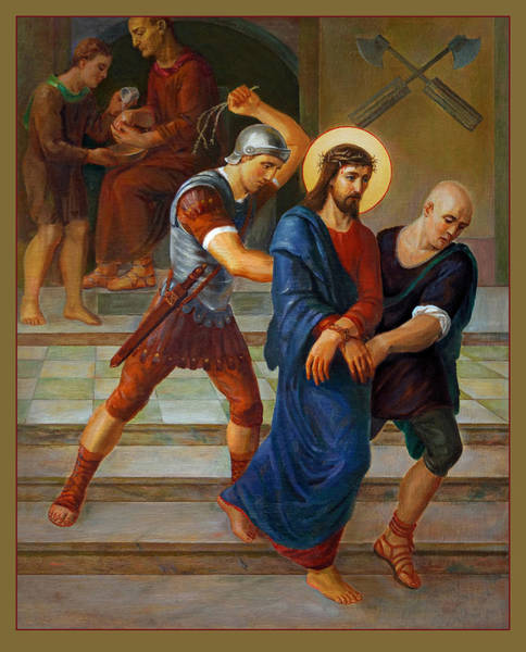 Sacrament Wall Art - Painting - Via Dolorosa - Stations Of The Cross - 1 by Svitozar Nenyuk