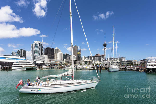 Photograph - Viaduct Harbor In Auckland, New Zealand by Didier Marti