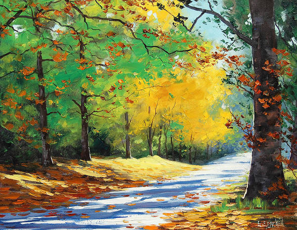 Oak Painting - Vibrant Autumn by Graham Gercken