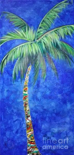 Vibrant Blue Palm Art Print