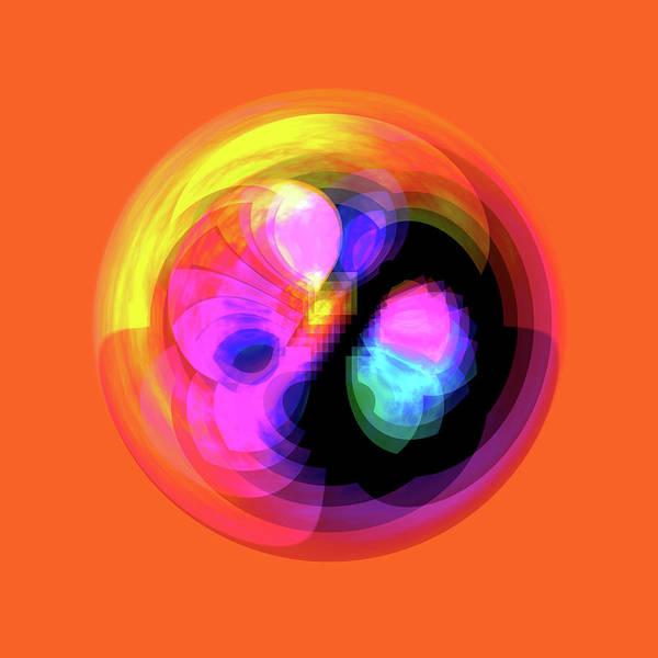 Digital Art - Vibrant Circle On Orange by Judi Suni Hall