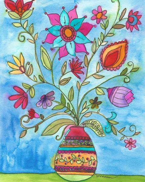 Painting - Vibrant Floral by Monica Martin