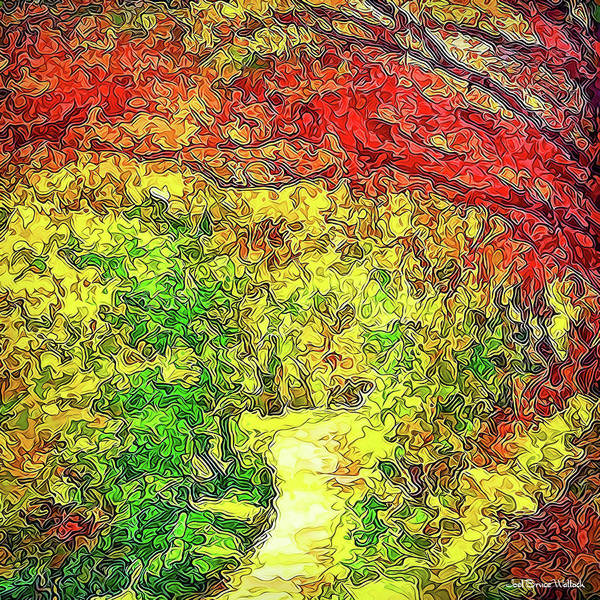 Digital Art - Vibrant Garden Pathway - Santa Monica Mountains Trail by Joel Bruce Wallach