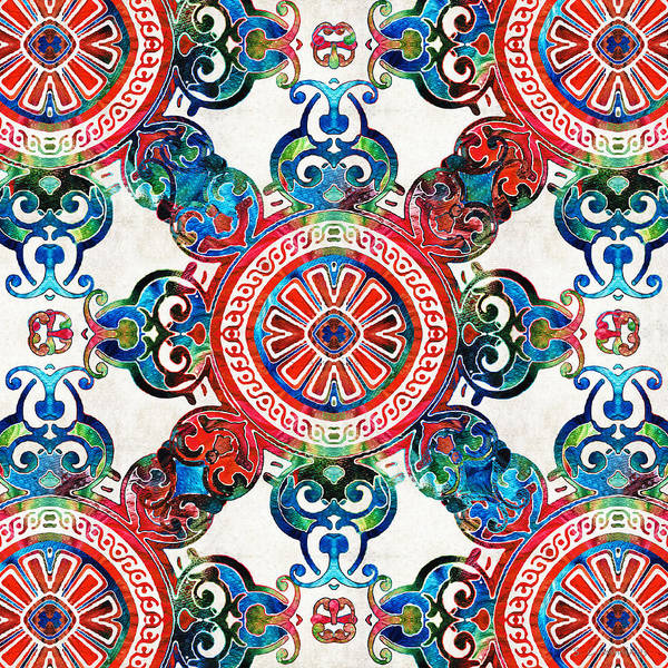 Painting - Vibrant Pattern Art - Color Fusion Design 4 By Sharon Cummings by Sharon Cummings