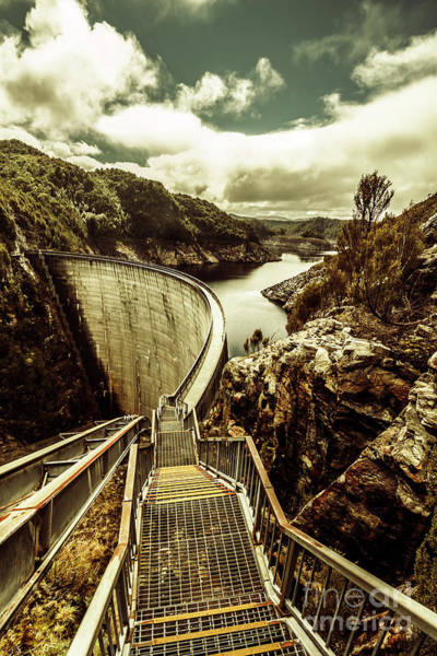 Dam Wall Art - Photograph - Vibrant River Dam by Jorgo Photography - Wall Art Gallery