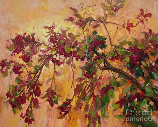 Ignatenko Painting - Viburnum by Sergey Ignatenko