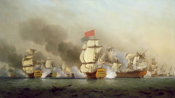 Cape May Painting - Vice Admiral Sir George Anson's by Samuel Scott