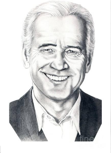 Famous People Drawing - Vice President Joe Biden by Murphy Elliott