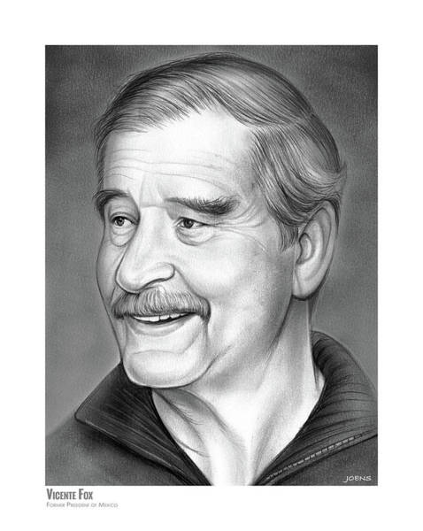 Wall Art - Drawing - Vicente Fox by Greg Joens