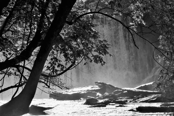 Wall Art - Photograph - Vickery Creek Waterfall In Black And White by Mary Ann Artz