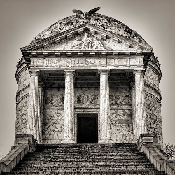 Wall Art - Photograph - Vicksburg - Illinois Memorial In Black And White by Stephen Stookey