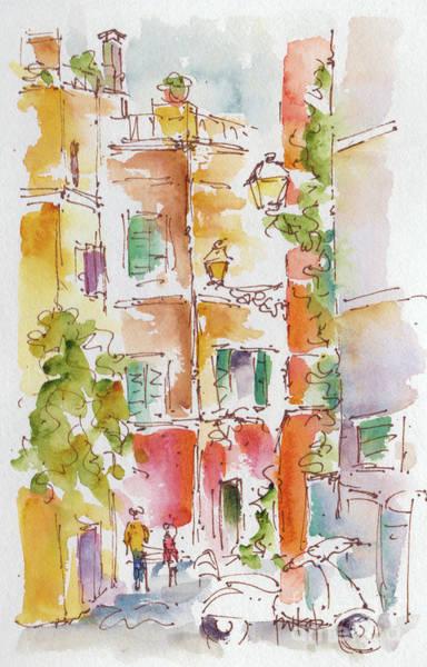 Painting - Vicolo Del Cedro Trastevere Roma  by Pat Katz