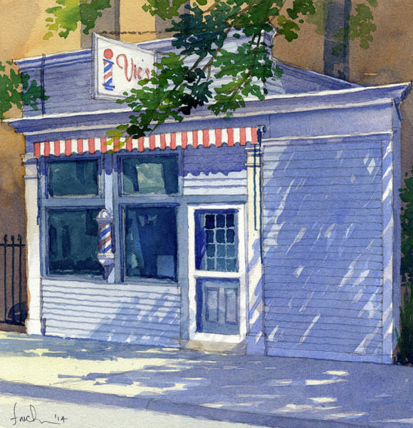 Painting - Vic's Barbershop by James Faecke