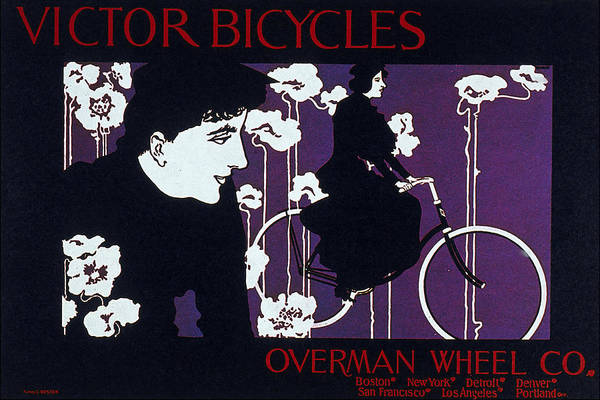 Wall Art - Mixed Media - Victor Bicycles - Overman Wheel Co - Vintage Cycle Advertising Poster by Studio Grafiikka