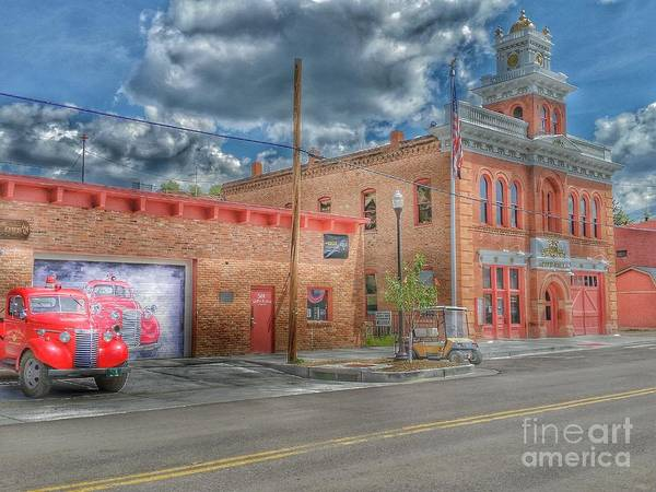 Photograph - Victor City Hall - Fire Department by Tony Baca