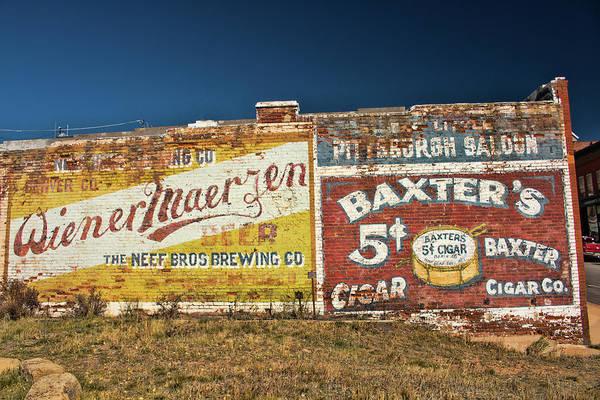 Photograph - Victor Colorado Building Murals by Kristia Adams
